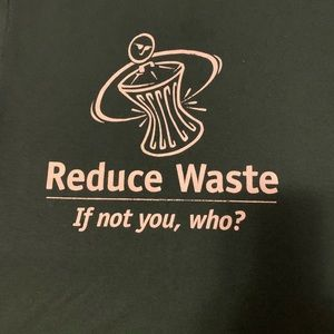 Reduce Waste green recycle lifestyle graphic t